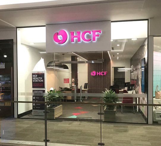 HCF - Urban Fitouts has been appointed to upgrade HCF branches to their new national design guidelines including new help desks customers, new carpets, wall panelling with both feature ceilings and lights.