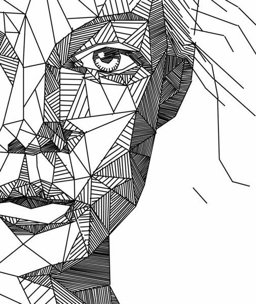 Sưu tầm từ Internet. Bức tranh chân dung được thể hiện bằng những được nét.