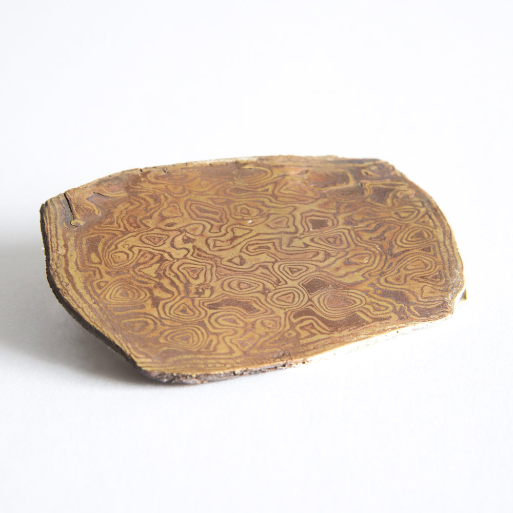 Mokume Gane - 48 Layers of Copper & Brass
