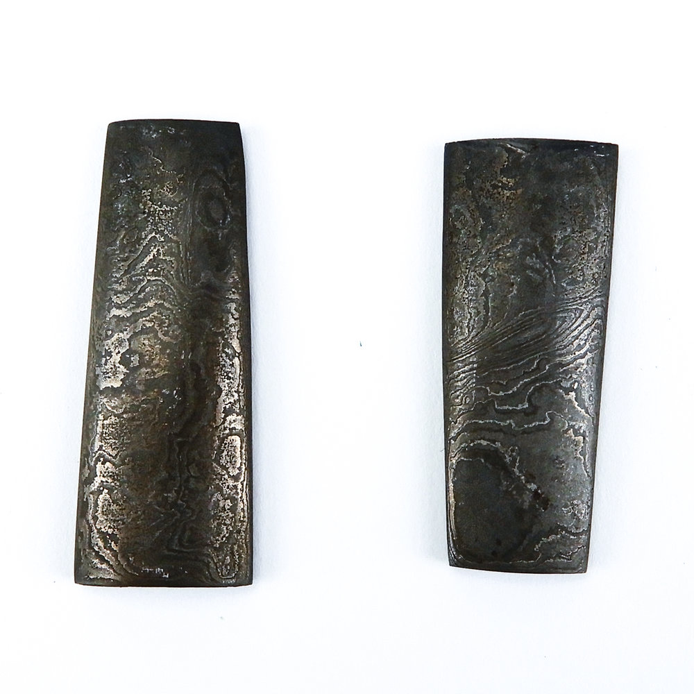 Damascus - 72 layers of high carbon steel, tool steel, and mild carbon steel