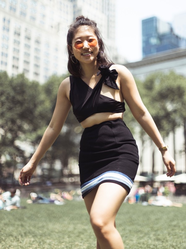 AndAgain Sustainable Denim Skirt Summer