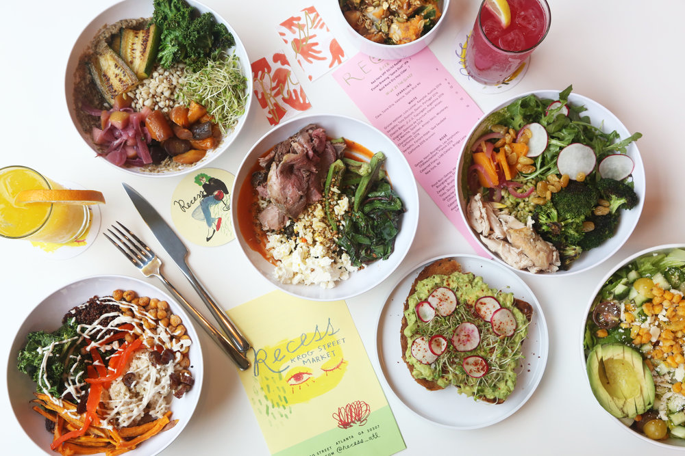 Quick Bites: New restaurants opening, events and more   The food stall features a menu of mostly plant-based dishes including salads, grain bowls, sandwiches, toasts and vegetable sides, with a handful of optional meat, seafood and vegetable add-ons.