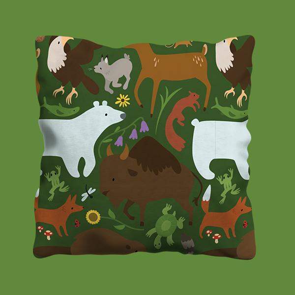 Manitoba Wildlife Pattern