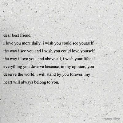 Always, always