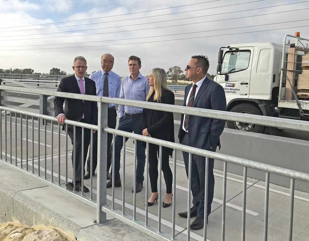 Christian, Ian & Mayor Tracey Roberts recently hosted Urban Infrastructure Minister Paul Fletcher on a visit to Hester Avenue.