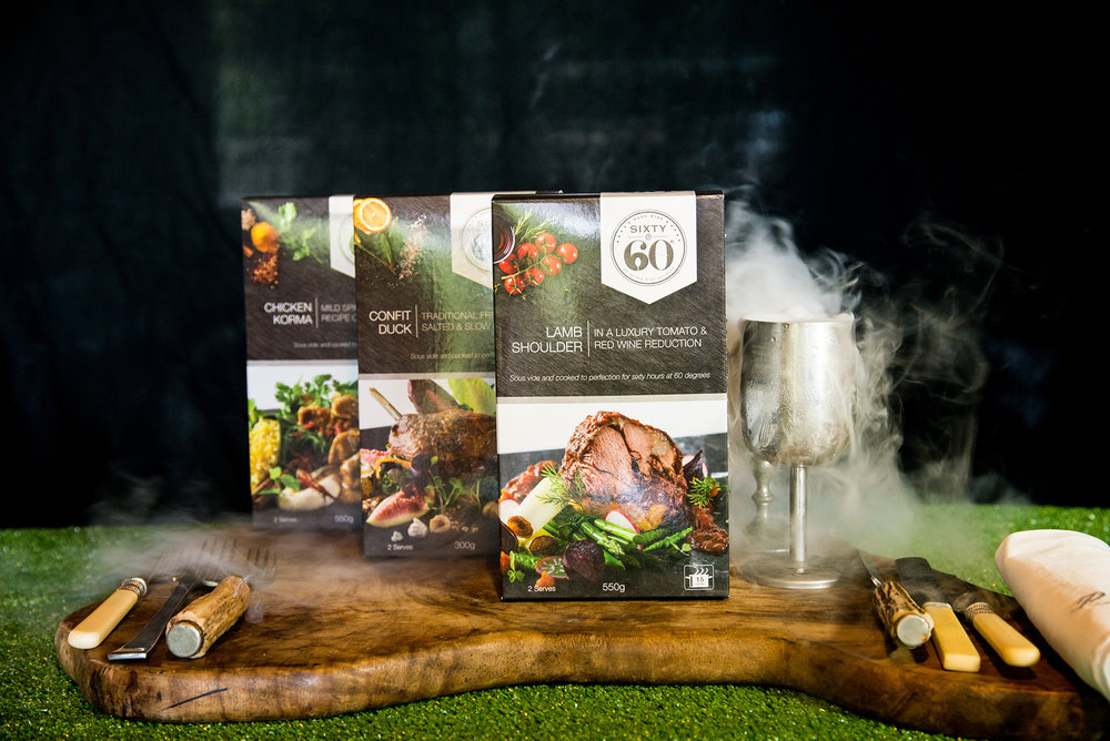 Peter Ansell's Sixty@60 gourmet ready-meal products