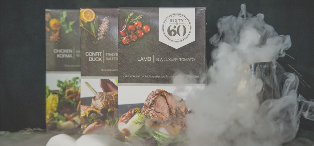 A selection of Sixty@60 gourmet ready meals