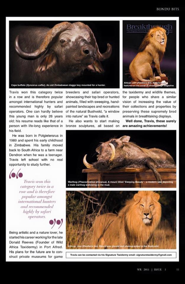 Wildlife Ranching Issue 1 2016