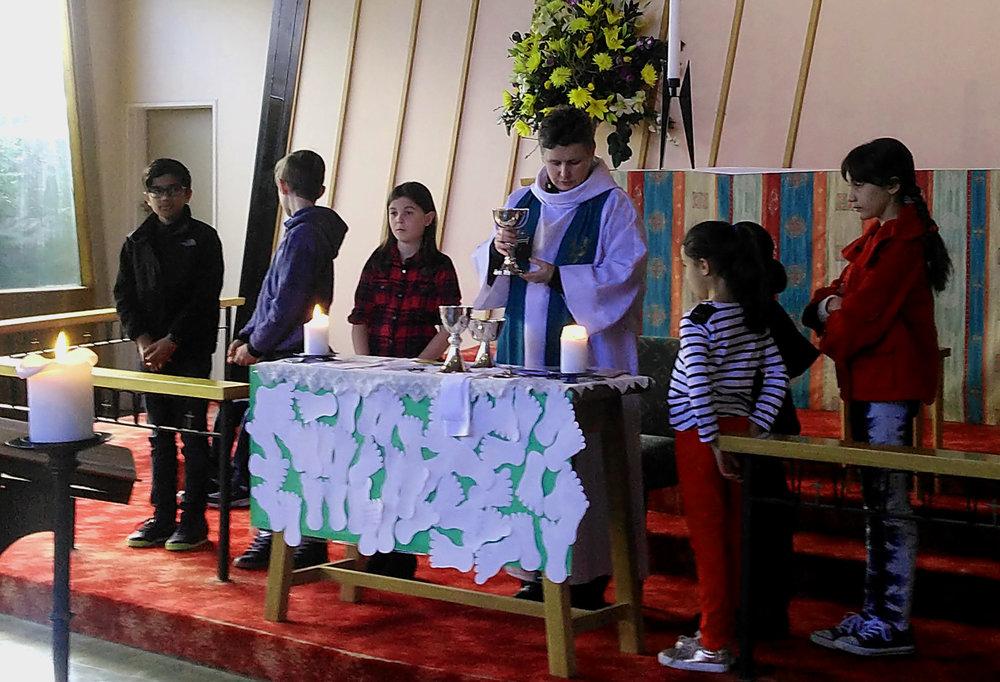 Children Participating in Communion - Jesus Travels