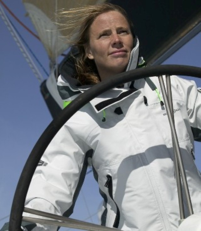 Emma Sanderson MBE (nee Richards) Now a New Zealander) In 2002–2003, she became the first British woman and youngest person to complete the Around Alone, a 29,000 mile, single-handed round the world yacht race.