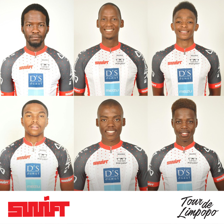 Team Swift from Botswana will be competing in the inaugural Tour de Limpopo, which starts at the Peter Mokaba Stadium in Polokwane from 23-26 April 2018. The team from top left Daniel Kelaotswe, Thabang Oliphant, Tshepo Sentsho; bottom from left Ike Mmuso, Abeng Malete, Thabiso Mokalake.
