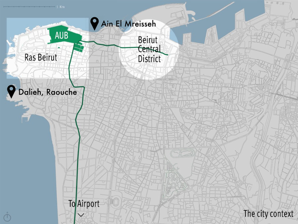 This map was created by the  American University of Beirut Neighborhood Initiative