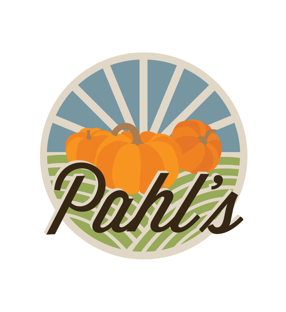 THE DESIGN: - After wiping the slate clean, we introduced a fresh logo, placing Pahl's County Store's popular pumpkin patch at the forefront. The whimsical logo grabs the attention of families and visually conveys the idea of fun.