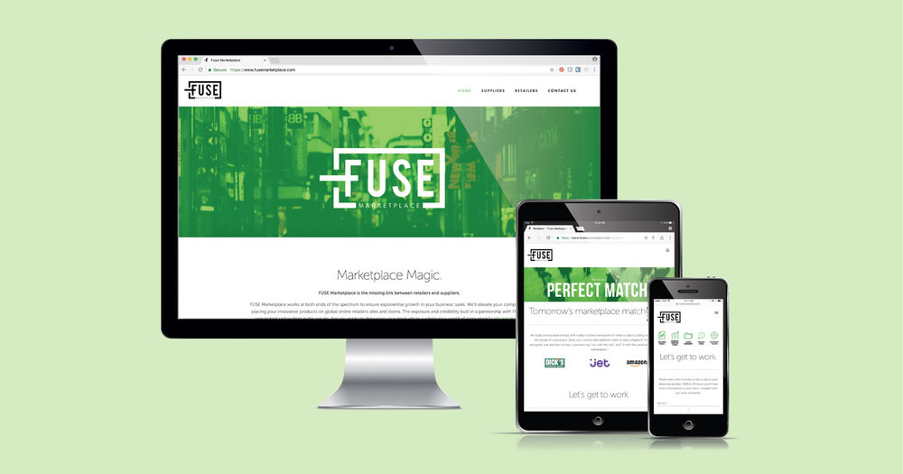 FUSE Marketplace's Squarespace website designed by Current 120.