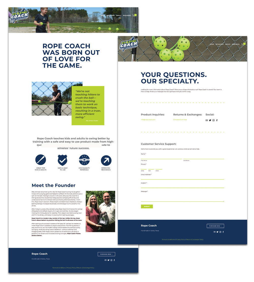 Rope Coach's Squarespace e-commerce website design and development by Current 120.