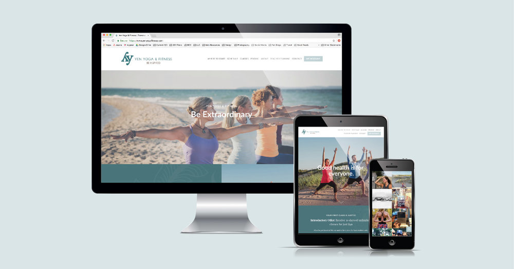Current 120's web design and website development for Traverse City's Yen Yoga & Fitness.
