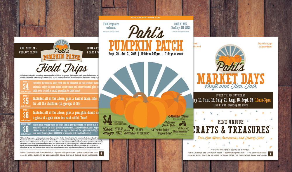 Pahl's Country Store's print collateral design by Current 120.