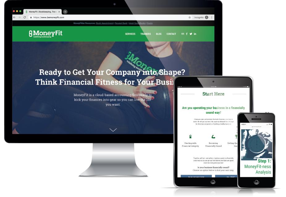 Web Design Traverse City - Financial Website, Current 120
