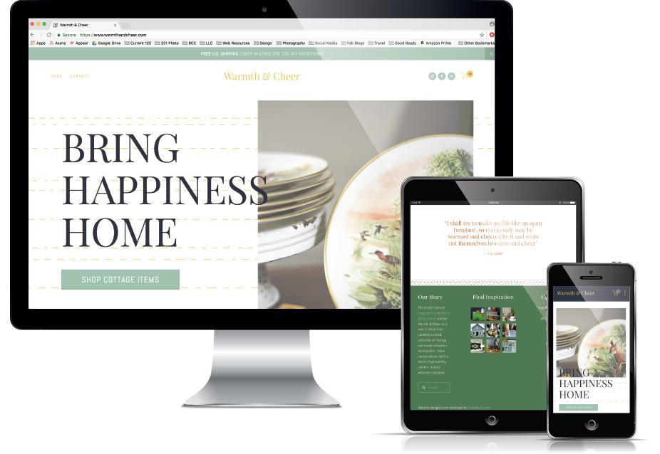 Web Design Traverse City - Vintage Boutique Website, Current 120