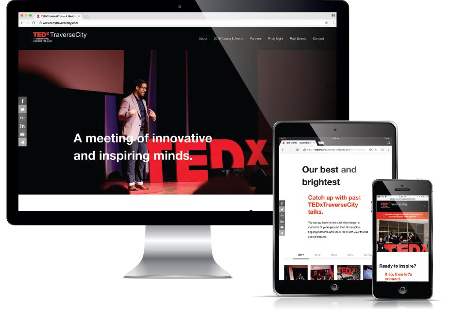 Web Design Traverse City - TEDx Event Website, Current 120