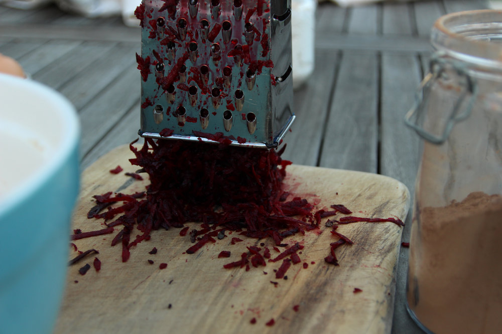 1. Grate one cup of beetroot, to a texture of your liking. -