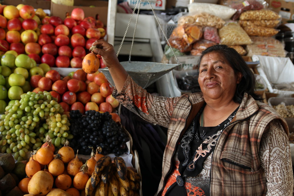 San Pedro Market, Cusco, Peru - Local storeholder