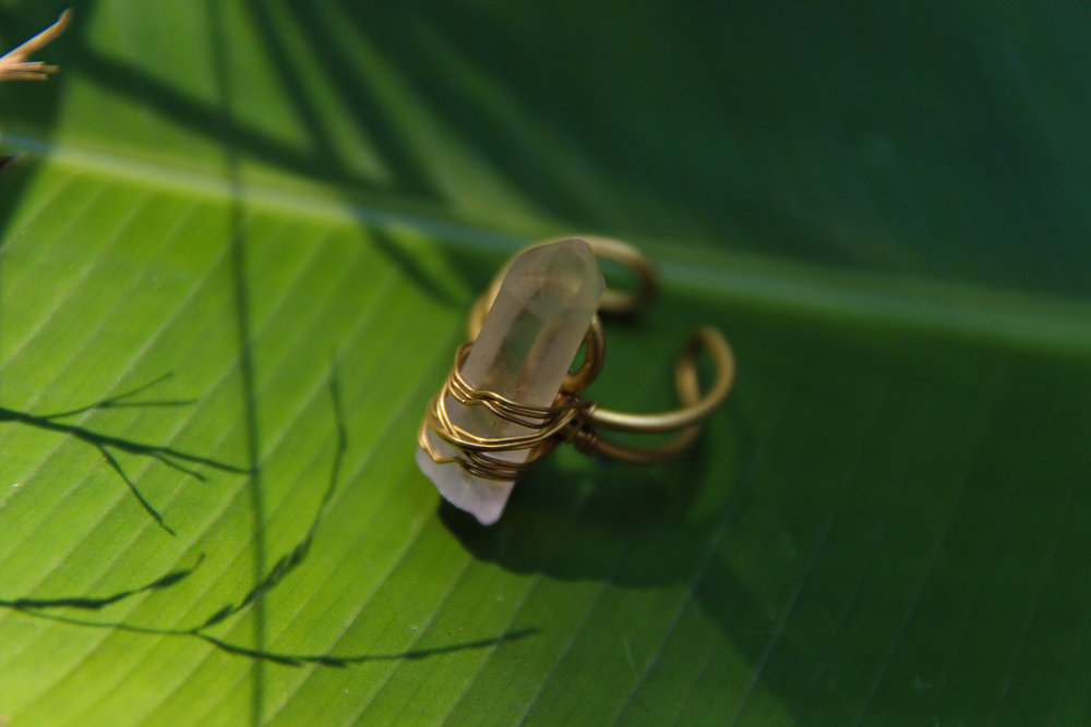 Pai, Thailand, 2018- Clear quartz and brass ring