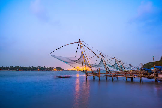 Kochin with Chinese Fishing Nets