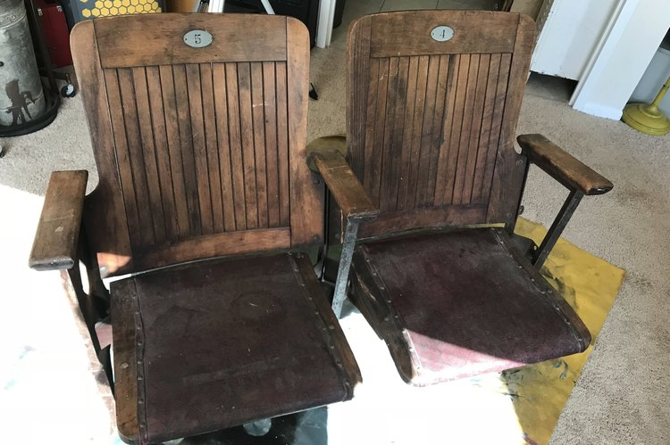 Generally speaking, we like our old stuff to look old. However these chairs  were too far gone, so in order to preserve them they needed some  restoration. - Grab Your Popcorn: Antique Movie Theater Seats Restoration — The