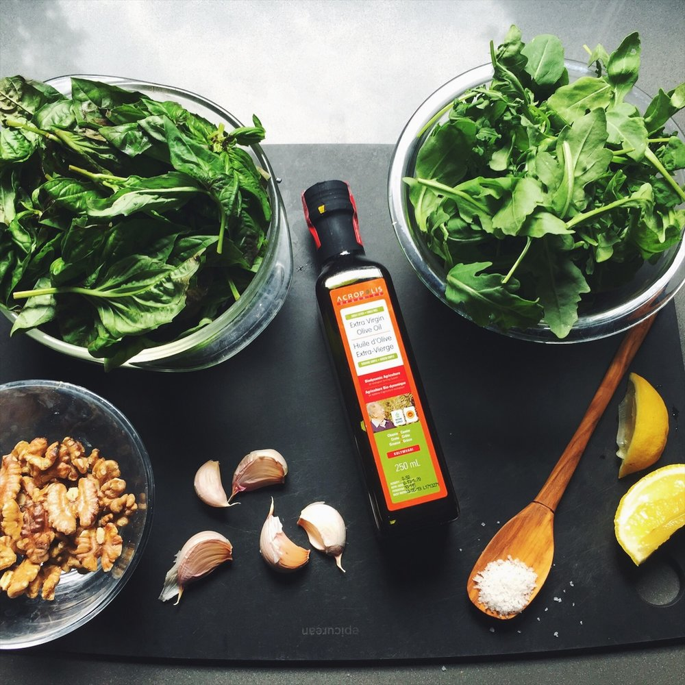 High quality olive oil will make or break your pesto. Opt for bio-dynamic.