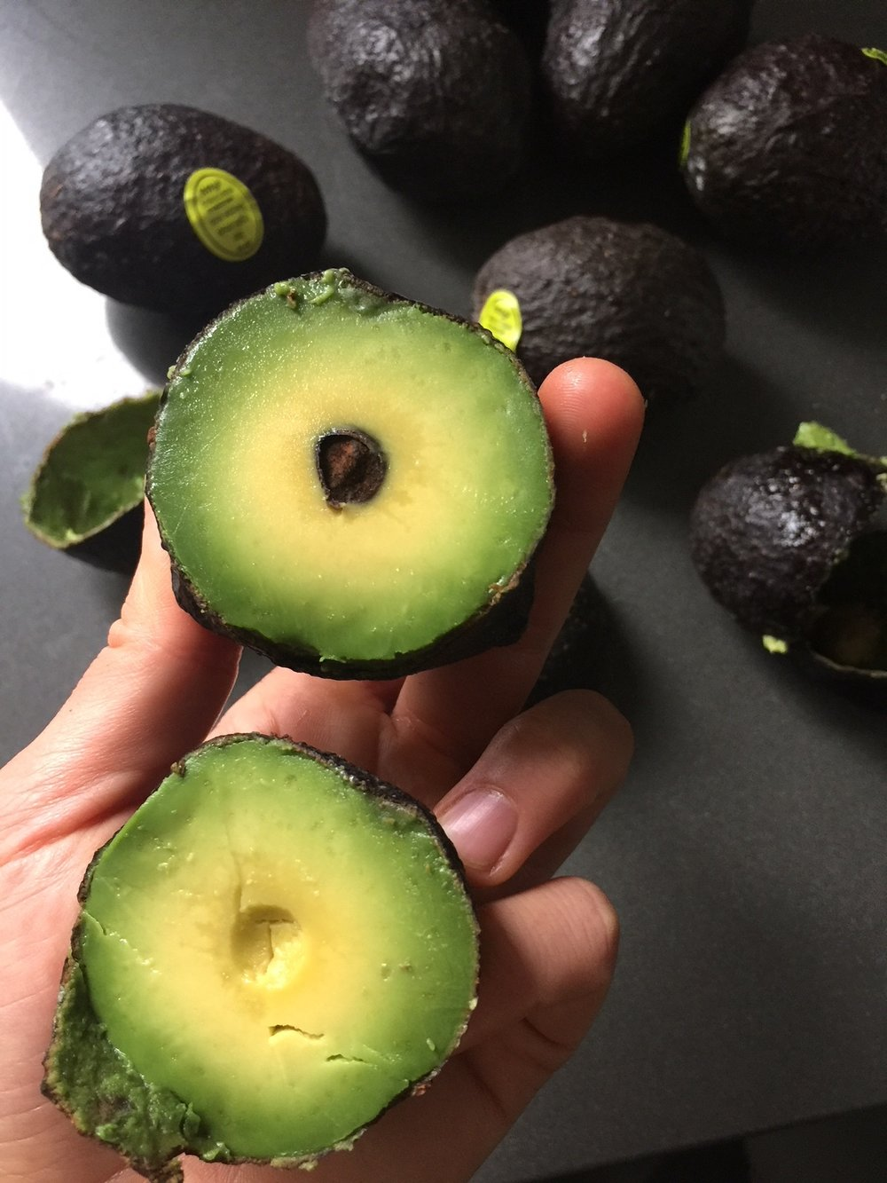 Perfectly ripe avocados on sale = time to make a HUGE batch of chocolate avocado frosting, store it in smaller jars in the freezer.