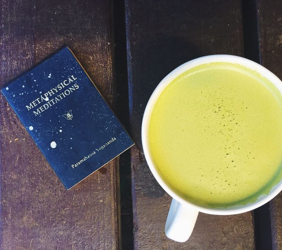 The shade of green will vary depending on the type of matcha you use, the liquid base (water, broth, or mylk), and the adaptogens you incorporate.
