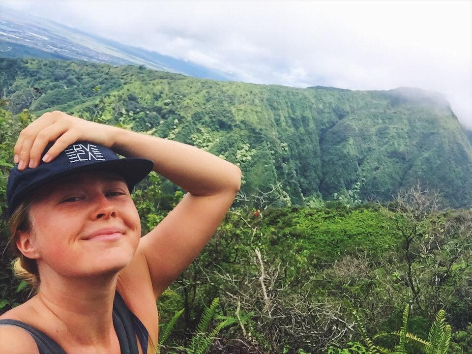 Time alone in nature = my favourite thing ever. This is solo hiking the Waihe'e Ridge on Maui, Hawaii. 2017.