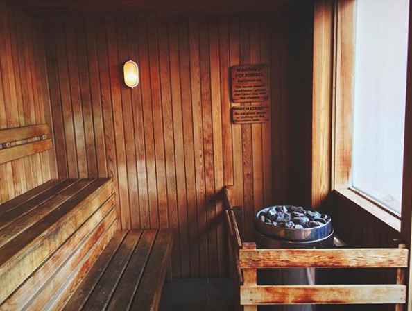 Black Label  sauna at FF Bondi Platinum, with an epic view of the city.