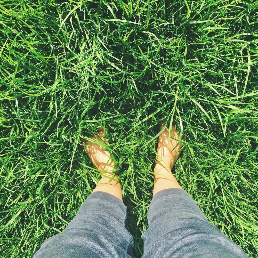 Grounding/ earthing: absorb beneficial negative electrons by putting your bare feet on the Earth.