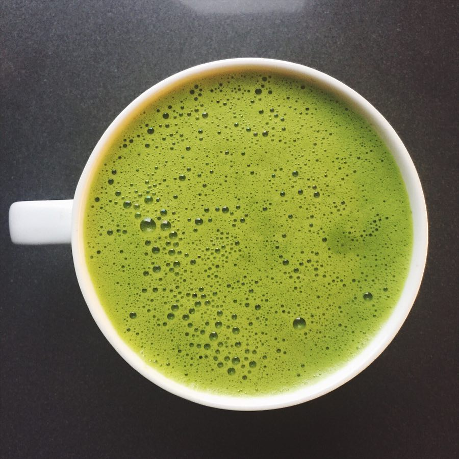 Because the whole leaf is ingested (as opposed to steeped), matcha tea boasts 150x the anti-oxidant load of regular green tea, and about 35grams of caffeine per tsp.