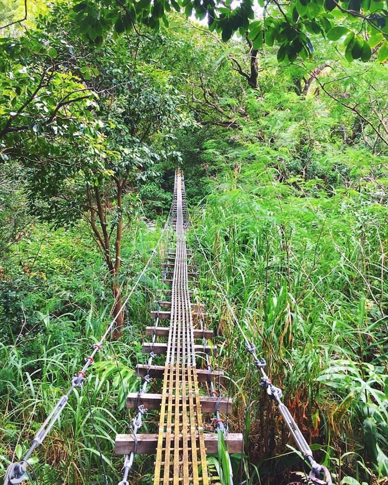 One of the swinging bridges along the hike.