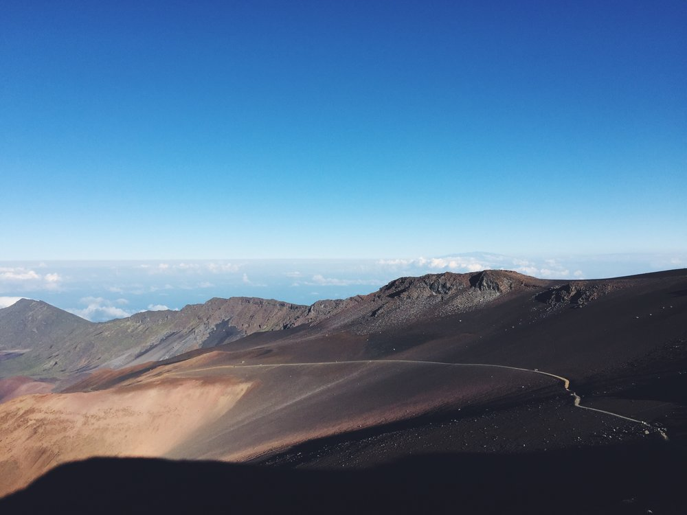 That trail is Sliding Sands, starting at the top of Haleakala.
