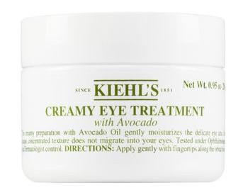 Kiehl's Creamy Eye Treatment with Avocado Ingredients: - Water, Shea Butter, Butylene Glycol, Tridecyl Stearate, Isodecyl Salicylate, PEG-30 Dipolyhydroxystearate, Tridecyl Trimellitate, Avocado Oil, Isocetyl Stearoyl Stearate, Propylene Glycol, Dipentaerythrityl Hexacaprylate/Hexacaprate, Sorbitan Sesquioleate, Magnesium Sulfate, Phenoxyethanol, Hydrogenated Castor Oil, Sodium PCA, Ozokerite, Methylparaben, Tocopheryl Acetate, Disodium EDTA, Isopropyl Palmitate, Copper PCA, Ethylparaben, Isobutylparaben, Propylparaben, Zea Mays/Corn Oil, CI75130/Beta-Carotene.
