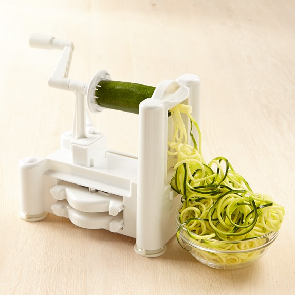 I have this spiralizing machine, which you can get on Amazon (click the image for more info).