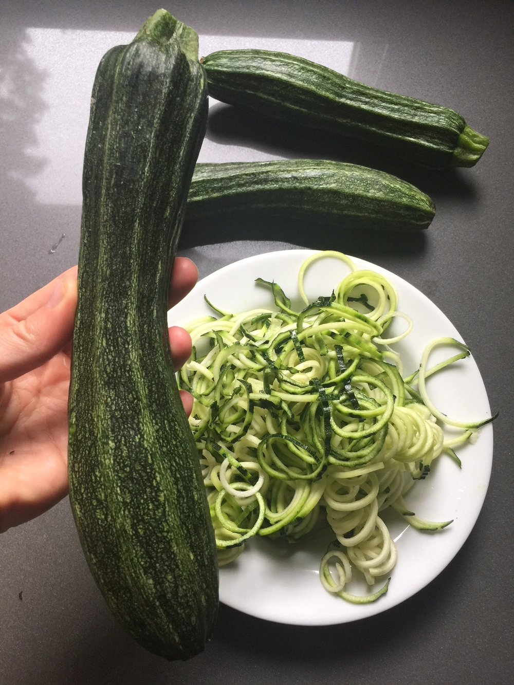 Organic zucchini skin is full of goodness, leave it on!