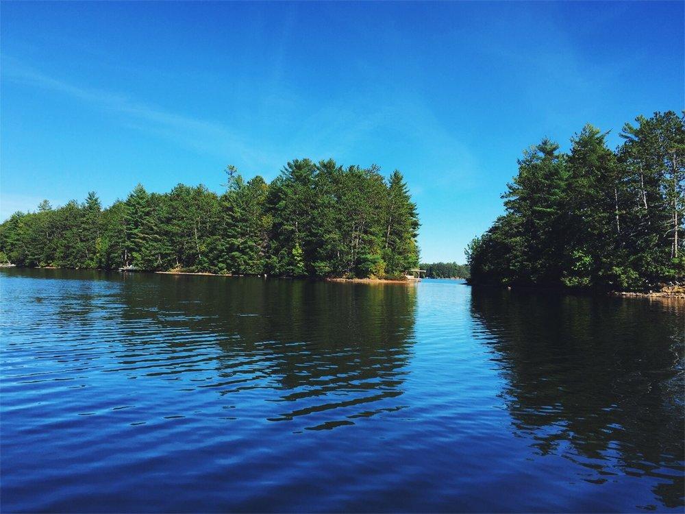 Stillness at Lake Kawagama, in Norther Ontario, Canada.