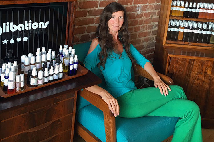 Nadine at the Living Libations flagship store in Venice Beach, California.