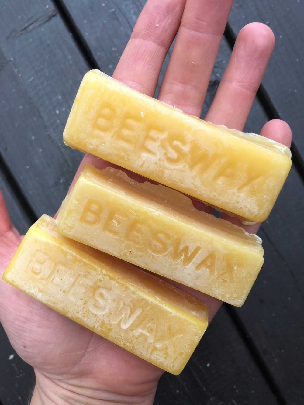 natural wildcrafted beeswax! you can find it at your local health store (or online).