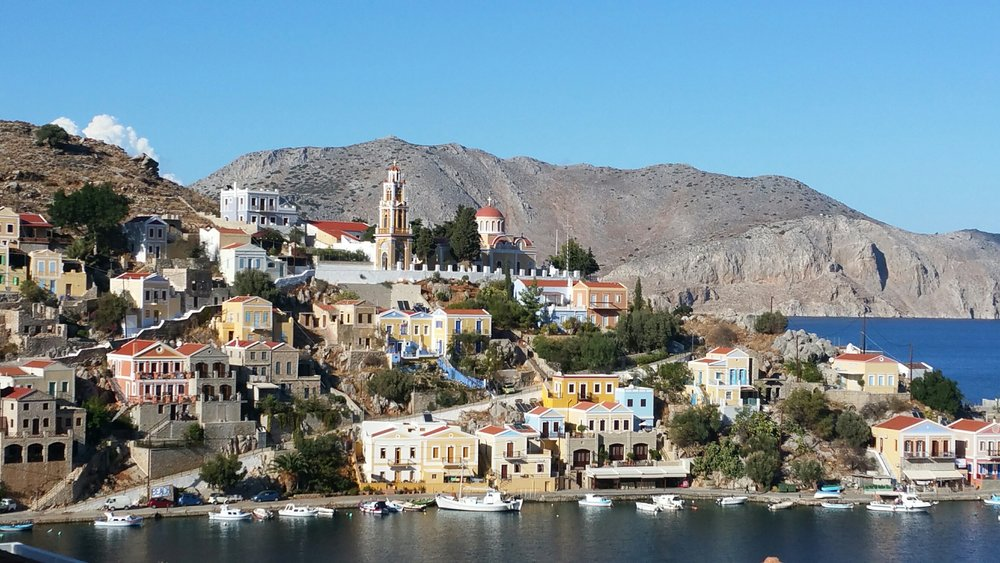 View of the Symi harbour