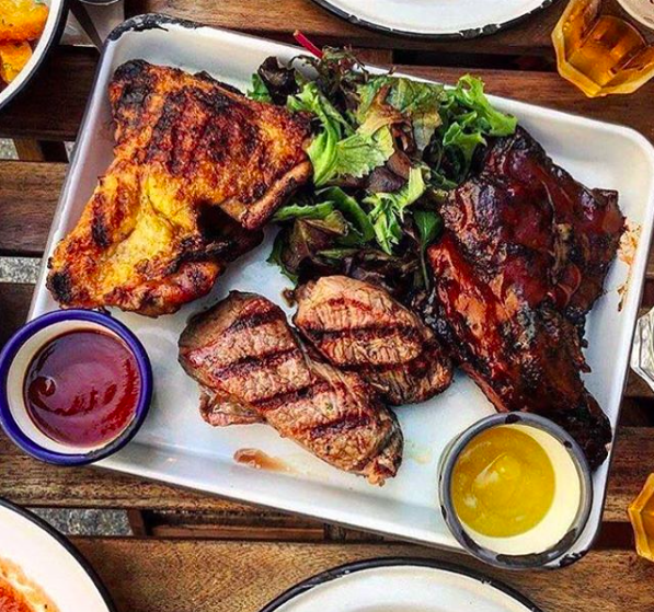 "You're in for an epic feed at ""Flesh"" (the  mix grill )"