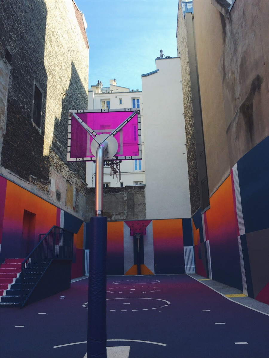 The basketball courts at Pigalle define LIT.