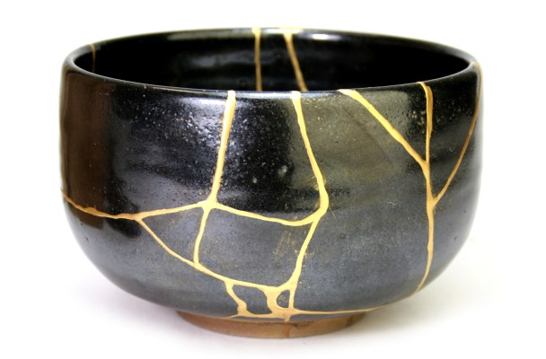 The ancient Japanese art of Kintsugi, that celebrates and highlights powder scars of instead of hiding them.  Image courtesy of  Atelier Kintsugi .