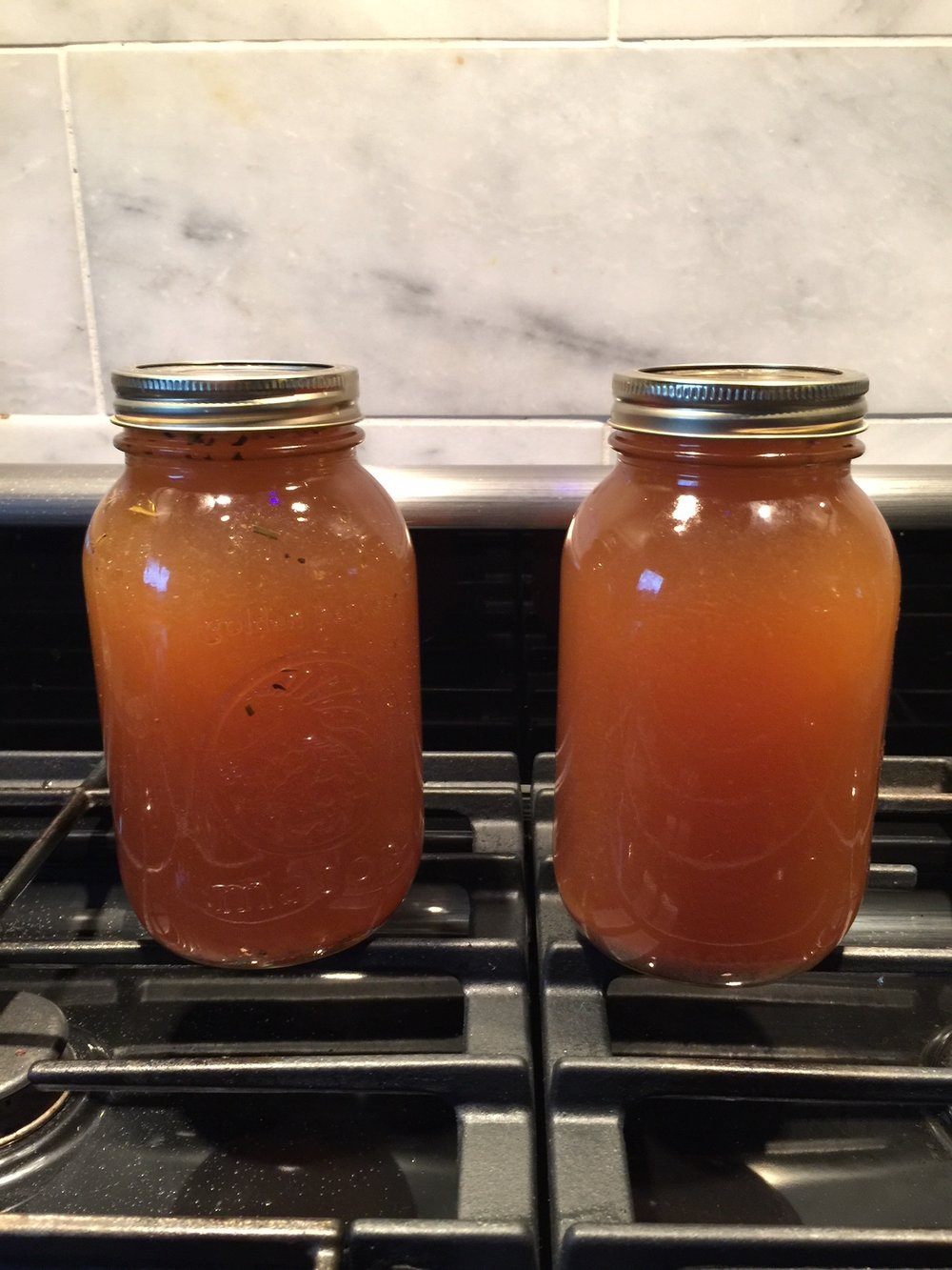 Liquid gold. Click the image for my favourite bone broth recipe.