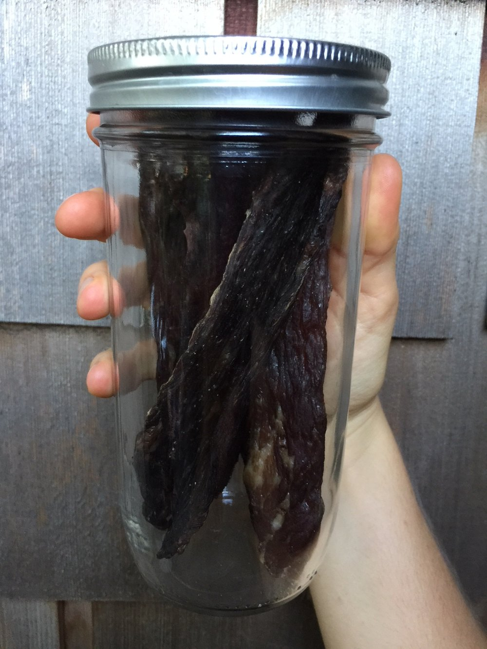 Store your jerky in an airtight jar for up to 6 months (unrefrigerated).